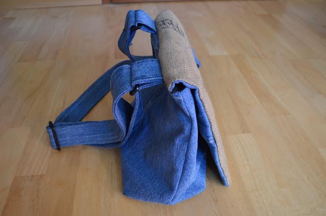 Tasche aus Kaffeesack Jeans Upcycling