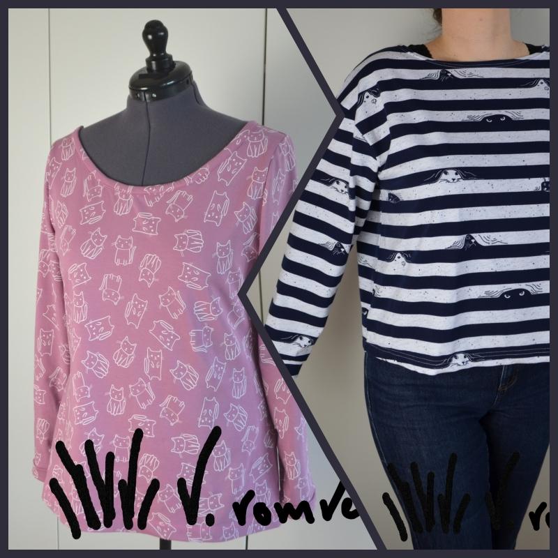 2 Burda Shirts